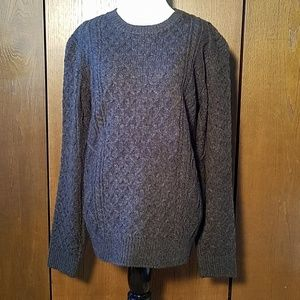 NWT FOREVER 21 OLIVE GREEN CABLE KNIT SWEATER SZ S